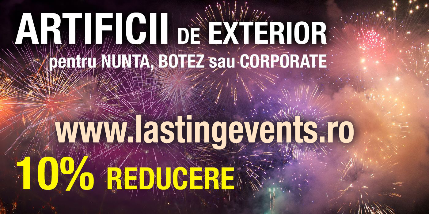 Oferta Artificii de Exterior pentru Nunta, Botez sau Corporate